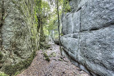 Walking Between Rock Walls Art Print