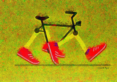 Nike Painting - Walking Bike - Pa by Leonardo Digenio