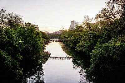 Photograph - Walking Bridge - Austin by Art Block Collections