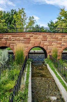 Photograph - Walking Bridge With Arches by Sue Smith