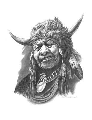 Alberta Drawing - Walking Buffalo by Lee Updike
