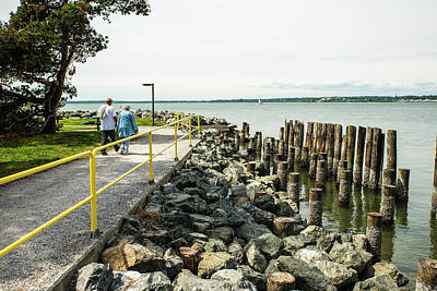Photograph - Walking By Rocks And Pilings by Tom Cochran