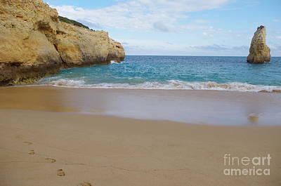 Photograph - Walking By The Carvalho Beach In Algarve by Angelo DeVal