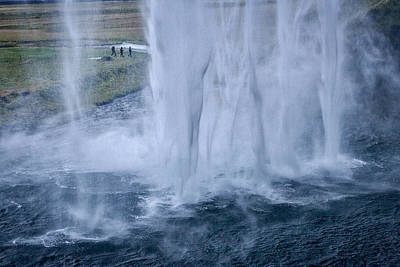 Photograph - Walking By The Waterfall - Iceland by Stuart Litoff