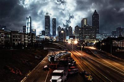Photograph - Walking Dead Tribute Downtown Atlanta Georgia  by Justin Kelefas