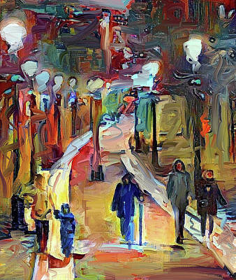 Digital Art - Walking Down The Alley by Yury Malkov