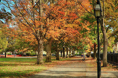 Fall Photograph - Walking Down The Path by Jeff Folger