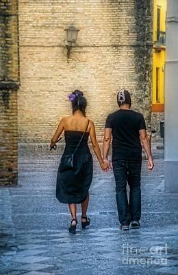 Valentines Day - Walking Hand in Hand - Seville by Mary Machare
