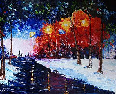 Painting - Walking Home At Twilight by Valerie Curtiss