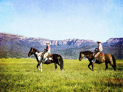 Photograph - Walking Home On A Wyoming Ranch by Kay Brewer