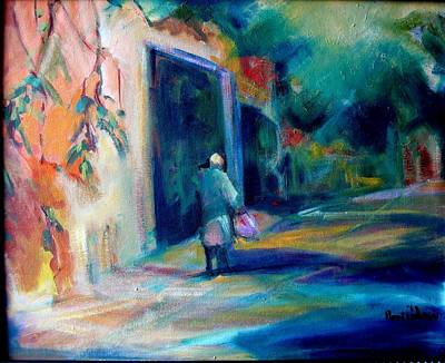 Expresive Painting - Walking Home by Pippi Johnson