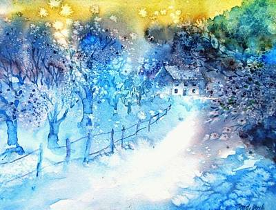 Painting - Walking Home Through The Snow  by Trudi Doyle