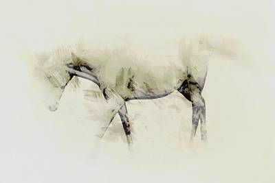 Photograph - Walking Horse Study by John Stuart Webbstock