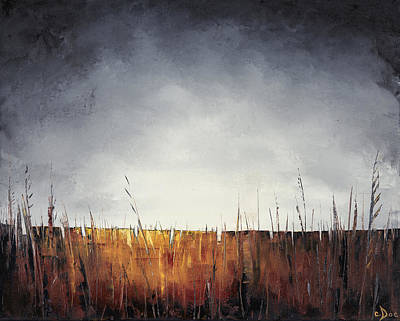 Painting - Walking, I Am Listening To A Deeper Way by Carolyn Doe
