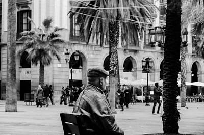 Photograph - Walking In Barcelona - Plaza Real  by Andrea Mazzocchetti
