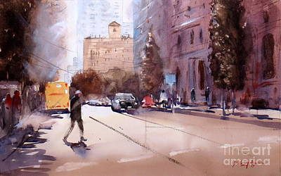 Painting - Walking In Brisbane 1 by Sof Georgiou