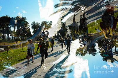 Walking In Espace Messina Nice Art Print by Thomas Carroll