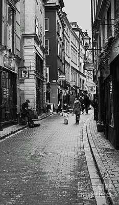 Art Print featuring the photograph Walking In Gamla Stan by Louise Fahy