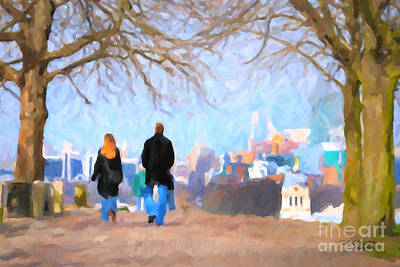 Painting - Walking In Greenwich Park by Chris Armytage