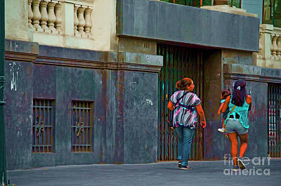 Art Print featuring the photograph Walking In Lima, Peru by Mary Machare