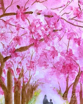Painting - Walking In Spring by Wonju Hulse