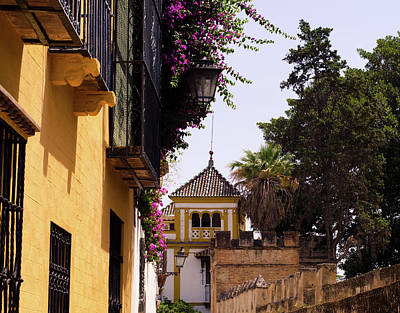 Streetlight Photograph - Walking In The Ancient Seville 2 by Andrea Mazzocchetti