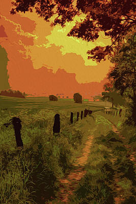Painting - Walking In The Countryside by Andrea Mazzocchetti