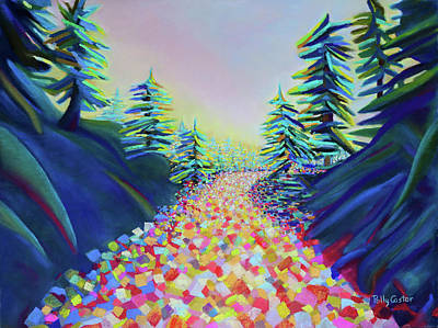 Painting - Walking In The Light by Polly Castor