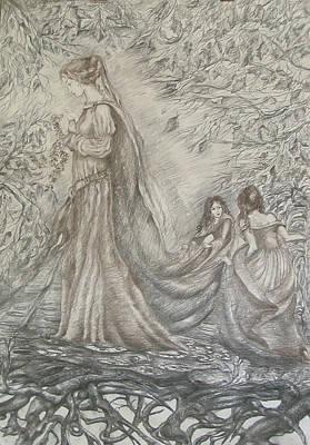 Drawing - Walking In The Magic Garden by Rita Fetisov