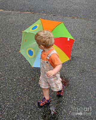 Photograph - Walking In The Rain by Sami Martin