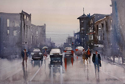 Painting - Walking In The Rain by Ryan Radke