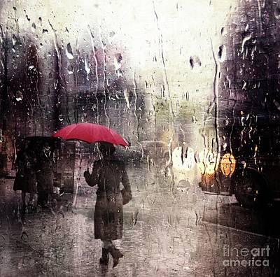 Photograph - Walking In The Rain Somewhere by Carlos Diaz