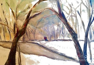 Painting - Walking In White by Gail Butters Cohen