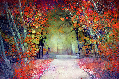 Digital Art - Walking Into A Fairytale by Tara Turner