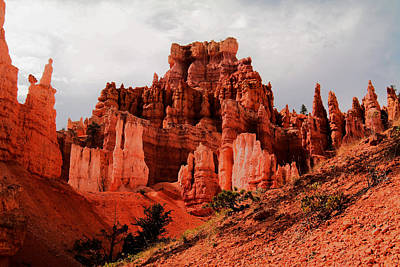 Hot Boulders Photograph - Walking Into Bryce Canyon by Jeff Swan