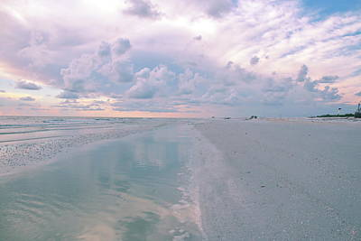 Beach Photograph - Walking Into Sunset by Debra Larabee