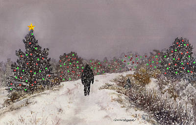 Painting - Walking Into The Light by Anne Gifford