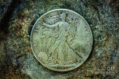 Digital Art - Walking Liberty Half Dollar Obverse by Randy Steele