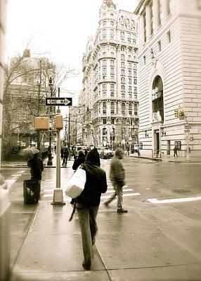 Walking New York Art Print by Michael Peychich