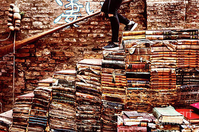 Photograph - Walking On Books by M G Whittingham