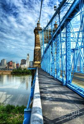 Photograph - Walking On John Roebling's Bridge by Mel Steinhauer