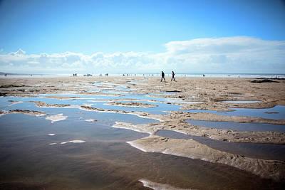 Walking On Sand Art Print by Svetlana Sewell