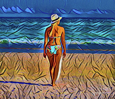 Photograph - Walking On The Beach 20918 by Ray Shrewsberry