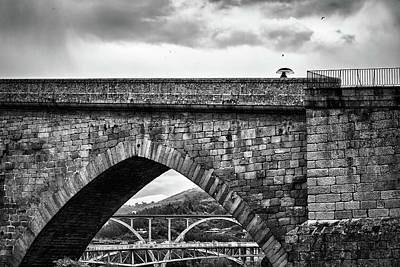 Photograph - Walking On The Roman Bridge by Fine Art Photography Prints By Eduardo Accorinti