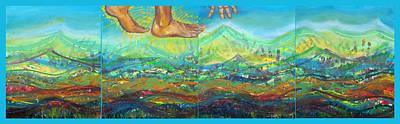 Jesus Walking On Water Painting - Walking On Water by Anne Cameron Cutri