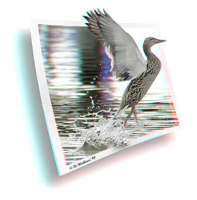 Walking On Water - Use Red-cyan 3d Glasses Art Print