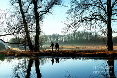 Photograph - Walking Past The Pond To Church by David Arment