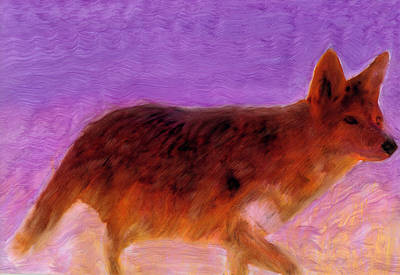 Art Print featuring the painting Walking Strong by FeatherStone Studio Julie A Miller
