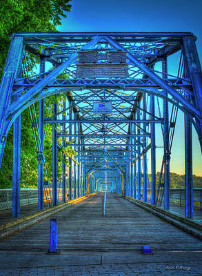 Photograph - Walking Tall Walnut Street Pedestrian Bridge Art Chattanooga Tennessee by Reid Callaway