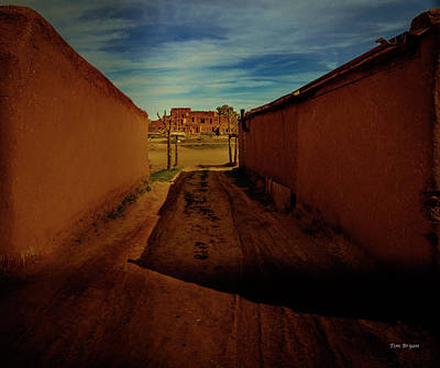 Photograph - Walking Taos Pueblo by Tim Bryan